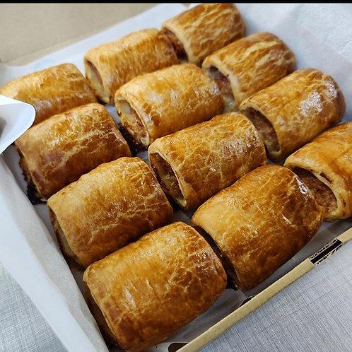 Box of Belgium Pastry Sausage rolls