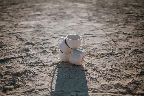 Speckled White Mug