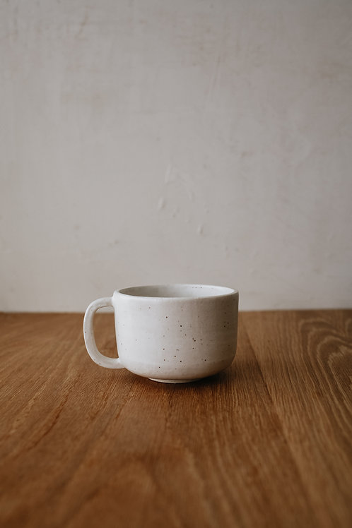 Speckled White Mug - Satin