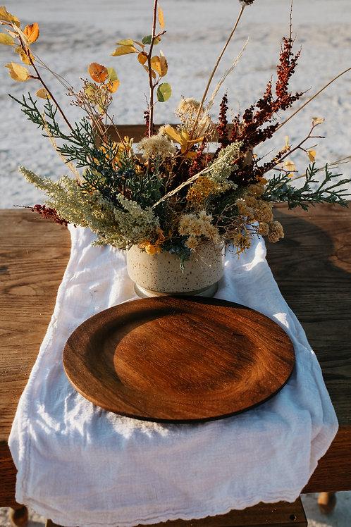 Black Walnut dinner plate