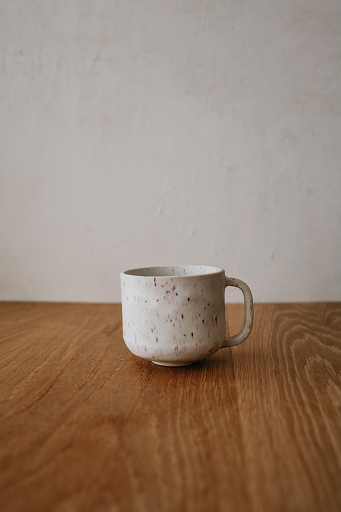Speckled White Mug - Matte