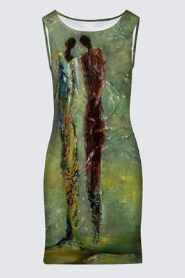 Robe ajustée col rond - 114$
