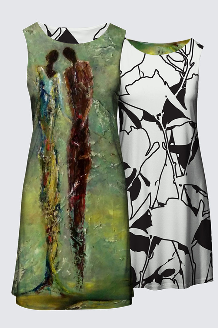 Robe réversible col rond 134$