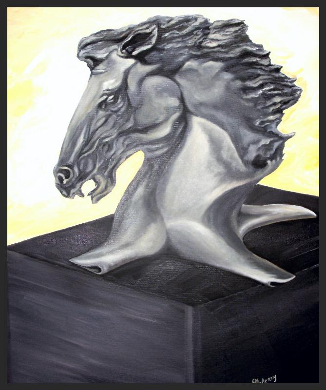 Cheval stylisé - Collection privée