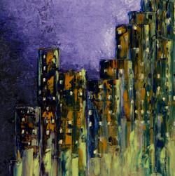 Nuit sur la ville - 20X20