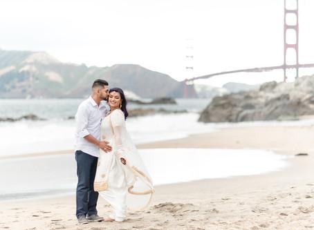 Baker Beach Anniversary Session ⎮ Kalpana & Nate