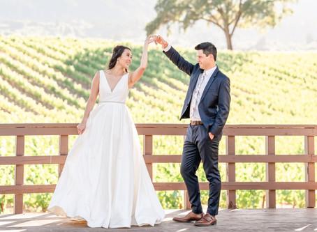 B.R. Cohn Winery, Micro Wedding ⎮ Katie & Marc