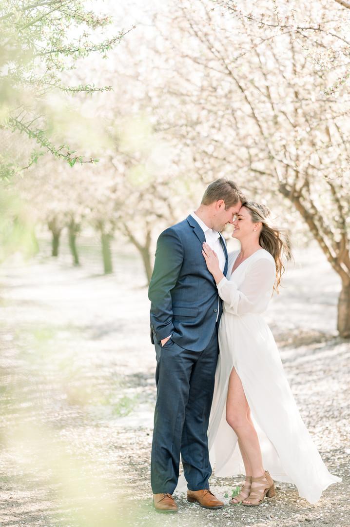 Lara & Matt Almond Blossom Engagement Se