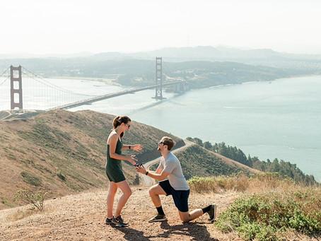 San Francisco, Golden Gate Bride Proposal ⎮ Jean & Jack