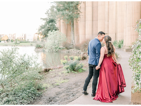 Palace of Fine Arts, San Francisco Engagement Session ⎮ Abby & Jayson