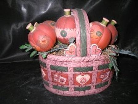 Homespun Basket with pumpkins