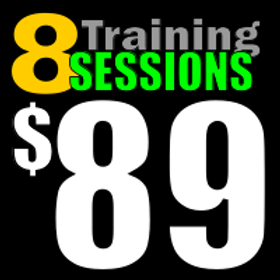 8 Training Sessions for $89