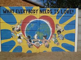 Wall Art illustrating the school motto