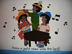 Hope and Light children singing and making music