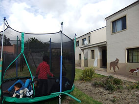 A Trampoline for the children