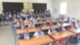 Children showing their Children's Bibles