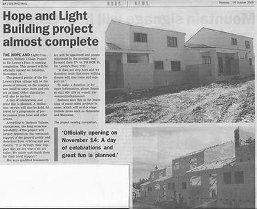 Update on Hope and Light Children's Village development