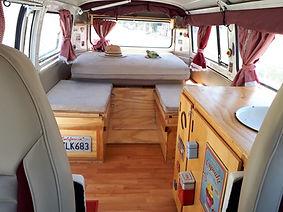 Rental Volkswagen Combi T2 Van C interio