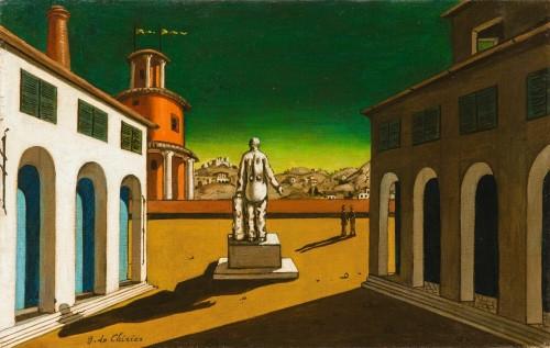 'Piazza d'Italia' от Giorgio de Chirico живял в Рим по-време на Испанския Грип