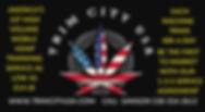 trim city logo usa flag leaf HEMP PROMO.