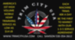 trim city logo usa flag leaf HEMP PROMO.
