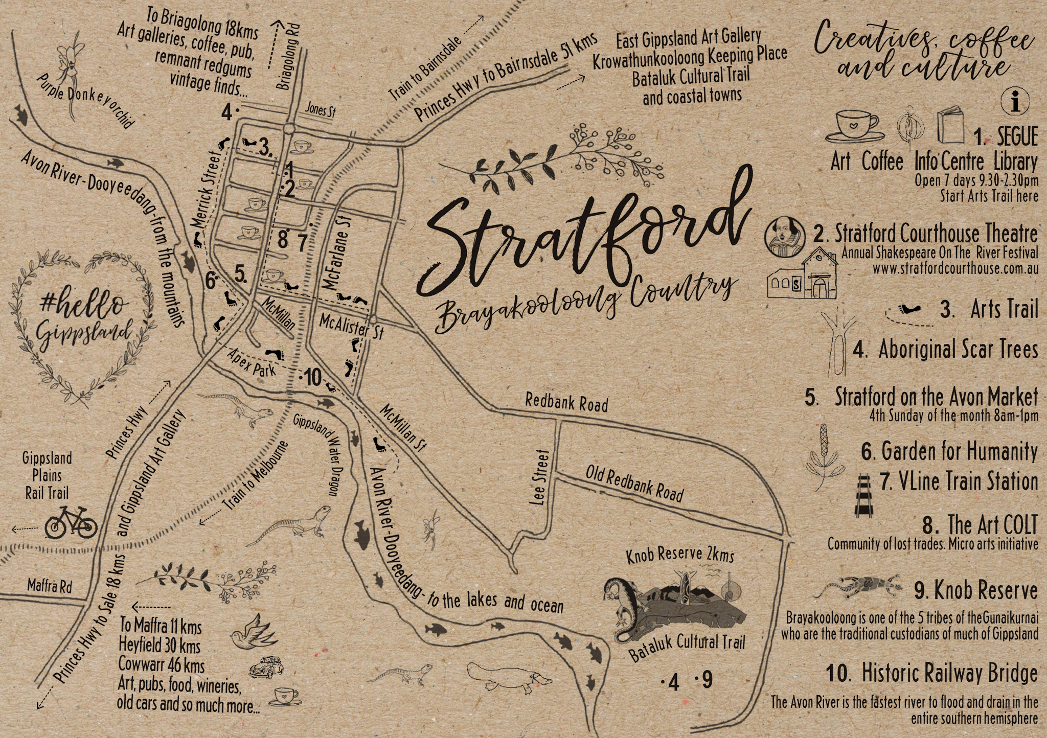 Stratford Creatives, Coffee and Culture walking map