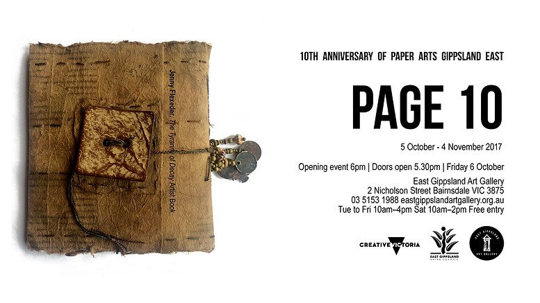 Page 10 | The tenth anniversary of Paper Arts Gippsland East