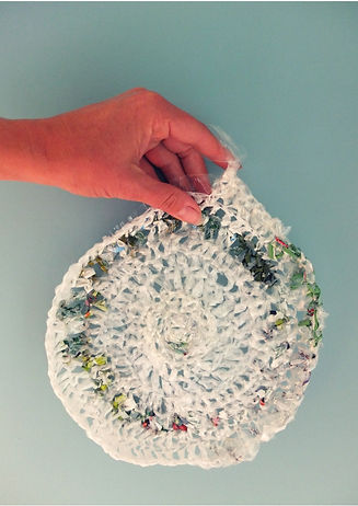Plastic crochet workshop at East Gippsland art Gallery