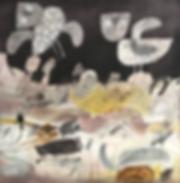 Gordon Bain, Night, Blyth Plains  60x60cm, acrylic and graphite on cradled board