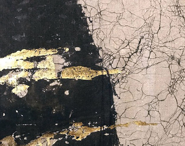 Glenys Mann, Lunar 2 (detail) Fabric and mixed media