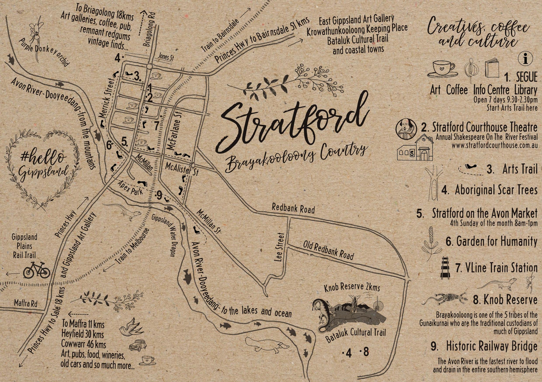 Stratford Art Adventure Map