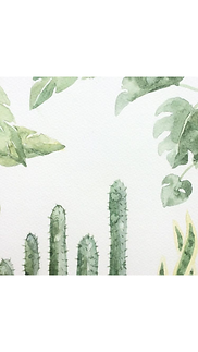 Simple botanical watercolours