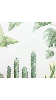 Simple botanical watercolours