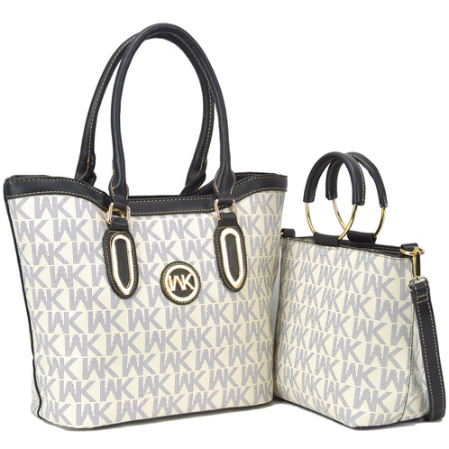 5ea3a3ff4c Wendy Keen Two-in-One Monogram Medium Tote. SKU: WK-K81000-CFCM. $ 39.99.  Faux Leather ...