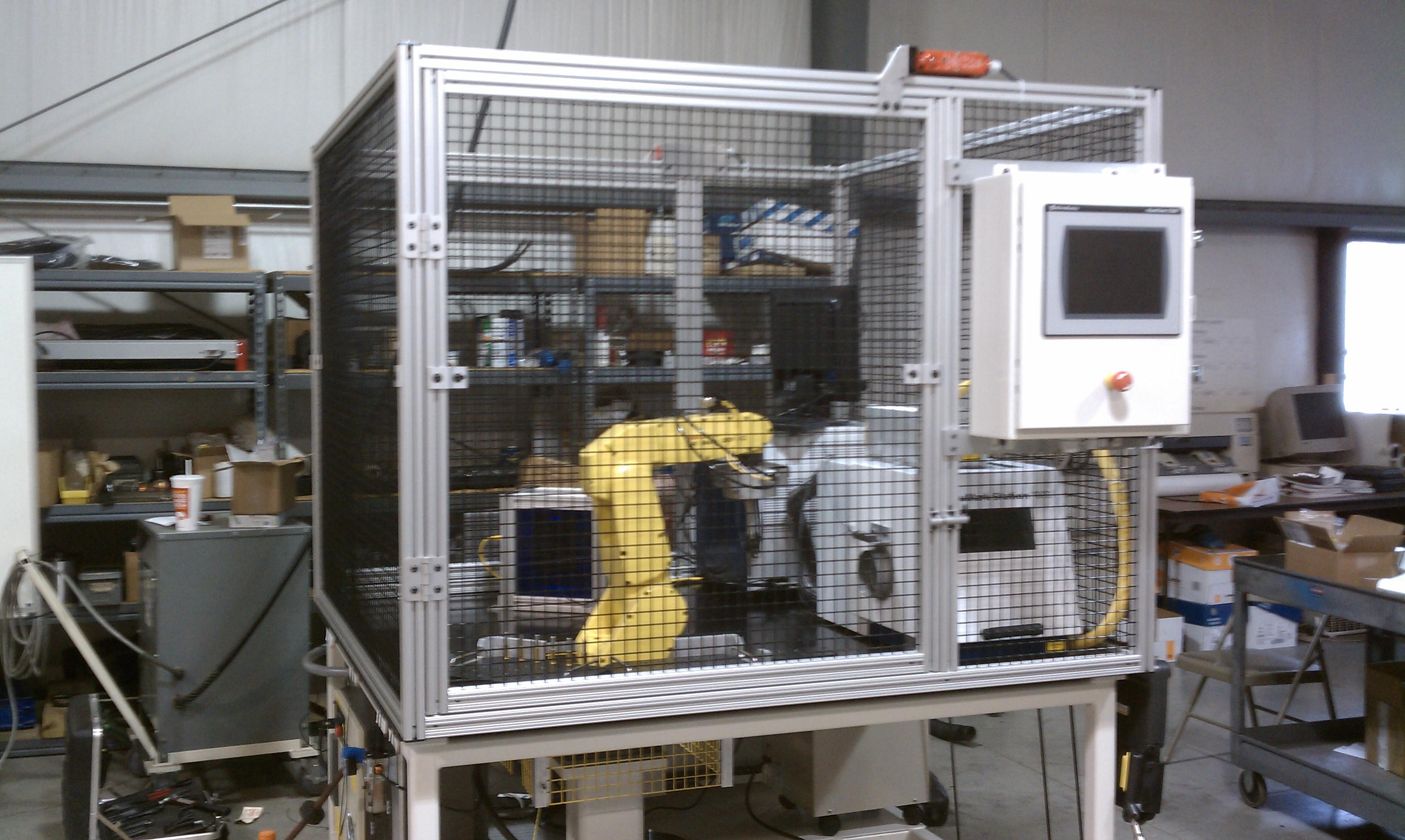 Automated lasermarking machine