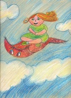Mimi flying