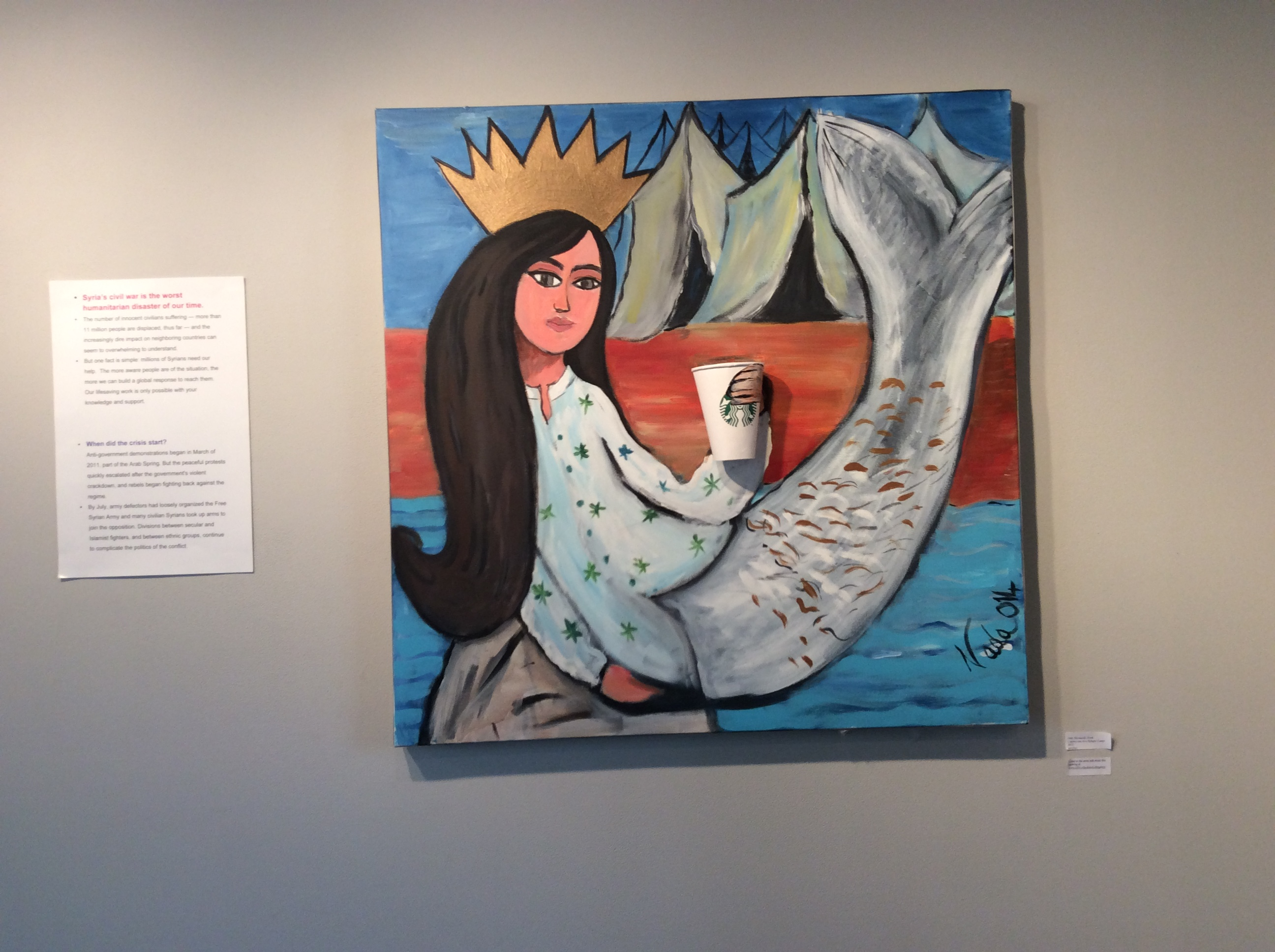 installing artwork -Mermaid