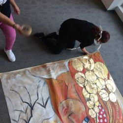 installing artwork