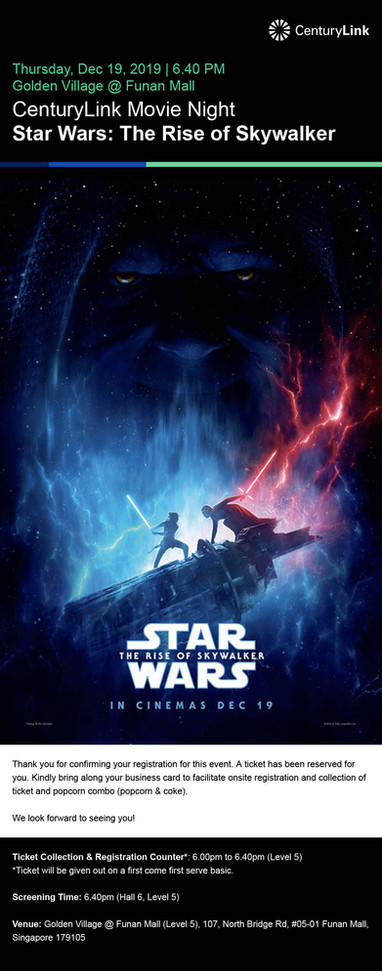 eDM- Star Wars Movie Screening on 19th D