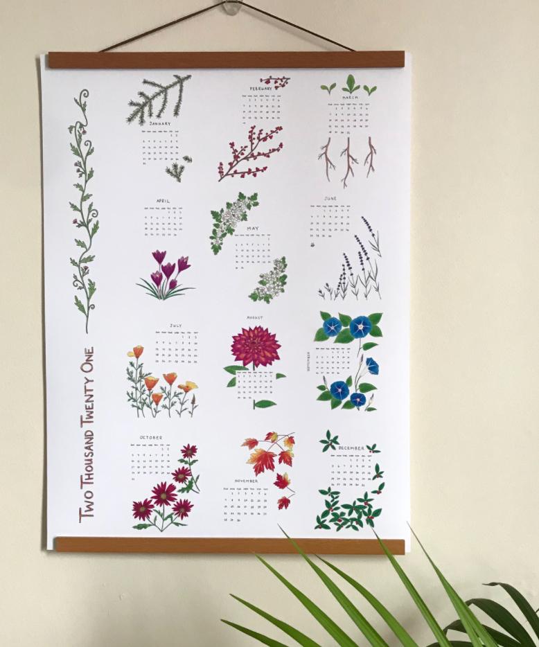 Maria Katherine Botanical Art Calendar