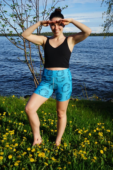 """Water babe blue - Shorts 6"""" High Rise"""