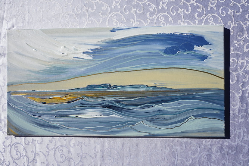 """On the water 24x12"""""""