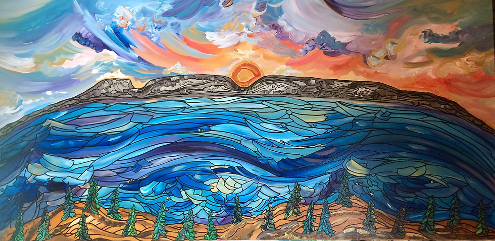 Sleeping Sunrise (Original) 48x24""