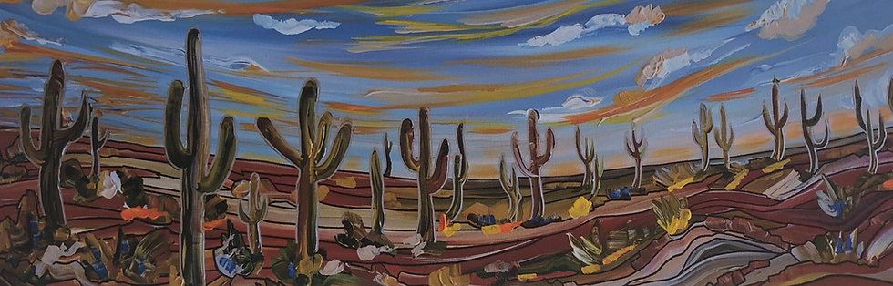 "Desert Dwellers - 12x36"" (Print)"