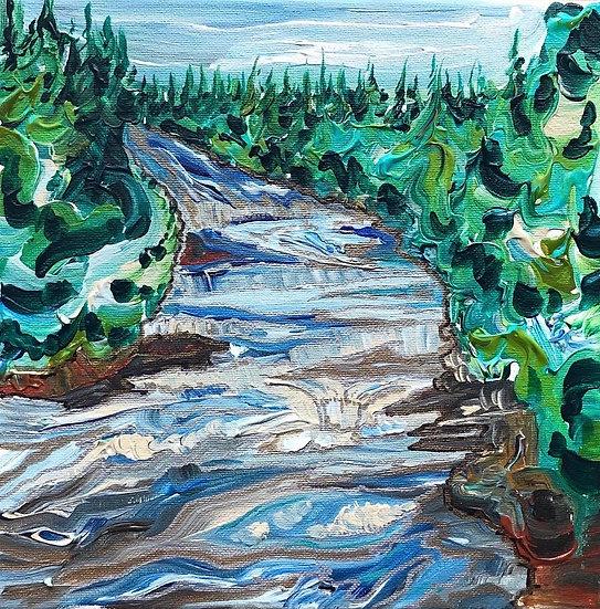 "Winding River 10x10"""