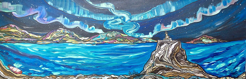 Northern skies (Original) 36x12""