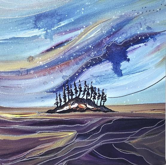 "Starry Nights - 12x12"" (Print)"