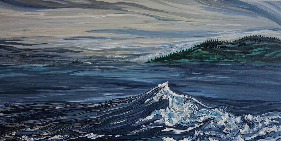 "Dark Ocean (Print) 24x12"""