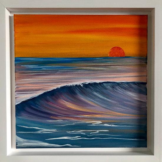 "Morning Storm (Original) 12x12"" With Frame"