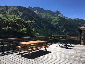 La terrasse du chalet Soleniou